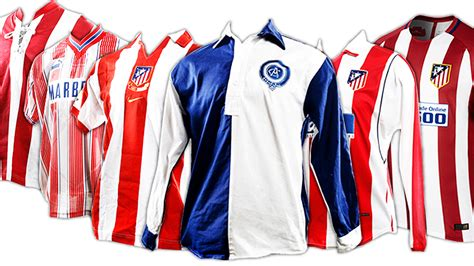 Atletico Years 1 see how the atletico shirt has changed the years