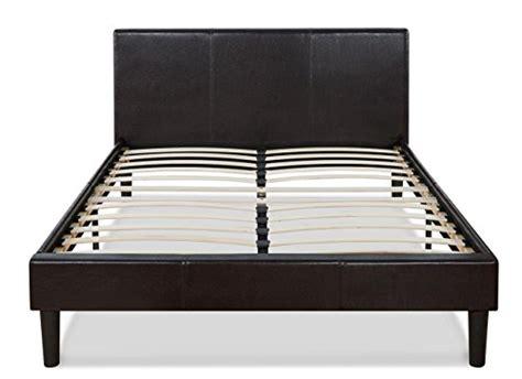 Platform Bed Slats Memory Foam Mattress Zinus Sleep Master Ultima Comfort Memory Foam Faux Leather Upholstered Platform Bed With Wooden