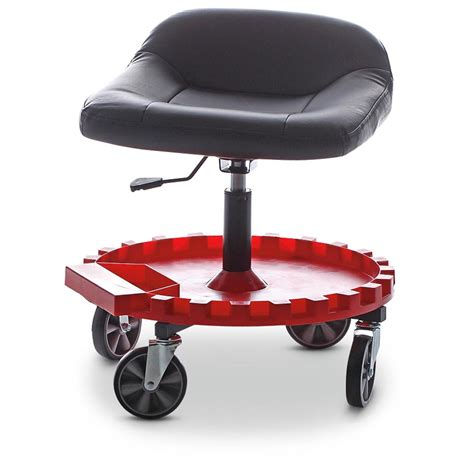 Wheeled Stool by Traxion Rolling Seat With Gear Tray 282927