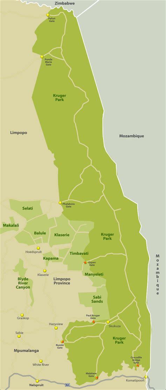 kruger national park map tourist map of kruger surrounds south africa