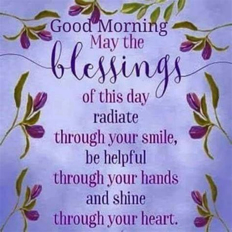 good morning, may the blessings of this day radiate