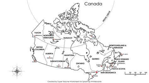 maps of canada provinces and capitals