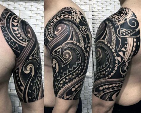 mens tribal tattoo sleeves 75 half sleeve tribal tattoos for masculine design ideas