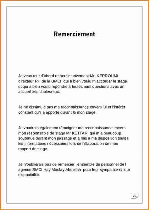 Exemple Lettre De Remerciement Rapport De Stage 11 Lettre De Remerciement Rapport De Stage Exemple Lettres