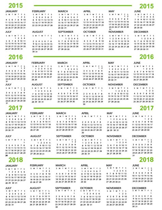 printable calendar 2015 to 2018 free annual leave 2015 calendar autos post