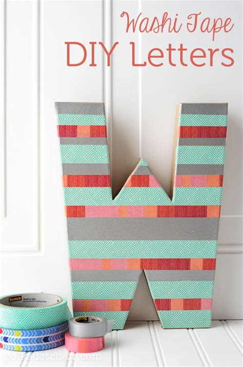 diy craft letters diy washi letter craft create sewing room decor