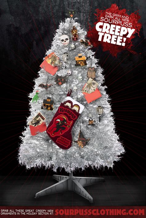 retro vs creepy christmas trees at sourpuss sourpuss