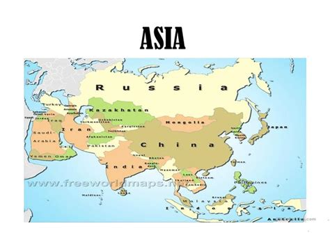 Poster Asia Maps Ukuran A1 countries in asia worksheet free esl projectable worksheets made by teachers