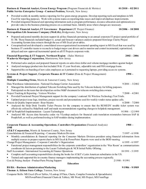 Metrics Analyst Cover Letter by Resume Reporting Analyst Resume Ideas