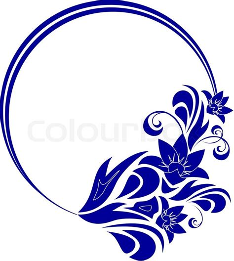 Home Decor Design Software Free by Round Frame With Decorative Branch Vector Illustration Stock Vector Colourbox