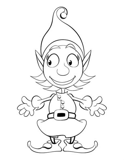 cute coloring pages of elves cute girl elf coloring page free elf coloring pages elf