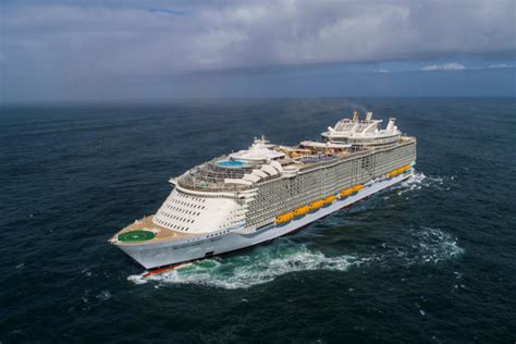 biggest boat in the world tour world s largest cruise ship sets sail mfame guru
