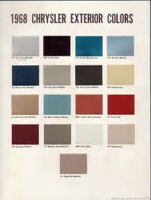 Chrysler 300 Paint Colors The 1970 Hamtramck Registry 1968 Chrysler Color Trim Book