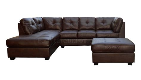 Brown Bonded Leather Sofa Medium Brown Sauvage Bonded Leather Modern Sectional Sofa