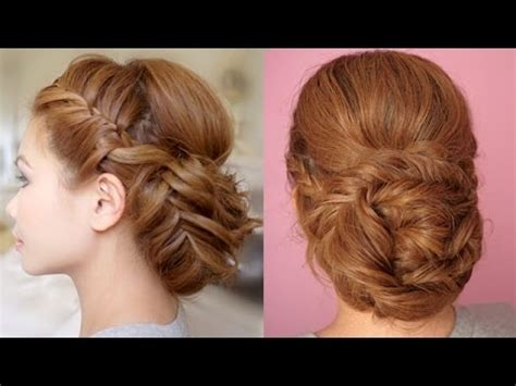 braided hairstyles tutorials youtube braided prom updo hair tutorial youtube