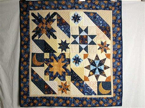 Patchwork Wall Hangers - moon and patchwork quilt exquisite skillfully