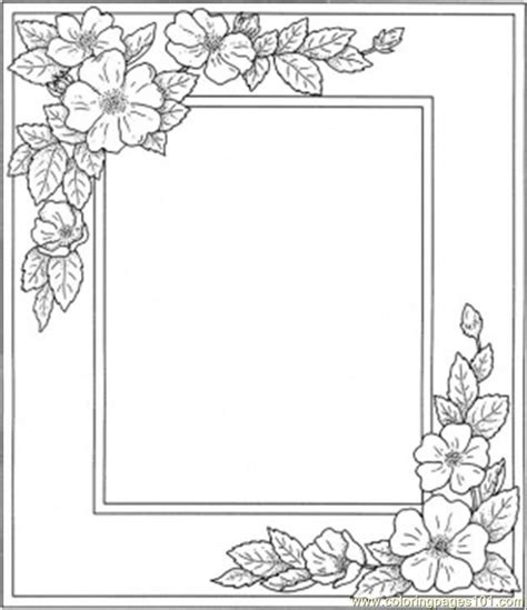coloring pages photo frame with flowers other