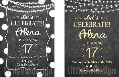 Undangan Ulang Tahun Custom jual kartu undangan ulang tahun sweet seventeen custom