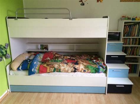 2m mal 2m bett doppelstockbett mit treppe und ausziehbaren dritten bett