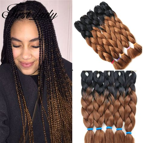two toned braids 24inch crochet braid hair senegalese twist box braids hair