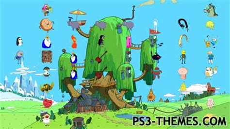 theme psp adventure time ps3 themes 187 adventure time