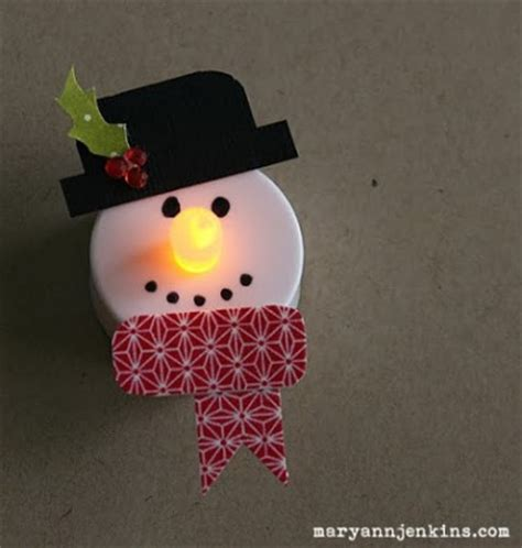 crafts with lights snowman tea lights family crafts