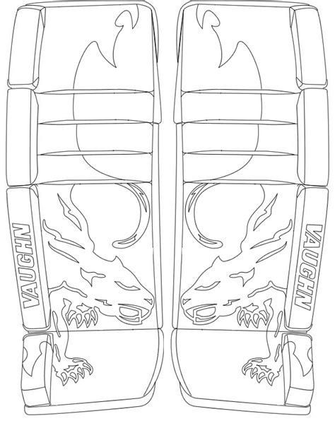 coloring pictures of hockey goalies 8 images of hockey goalie glove coloring pages hockey