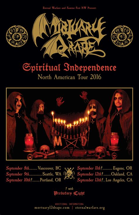 mortuary drape mortuary drape spiritual independence west coast us tour
