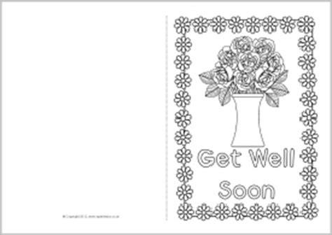 get well soon card template free get well soon coloring cards coloring pages