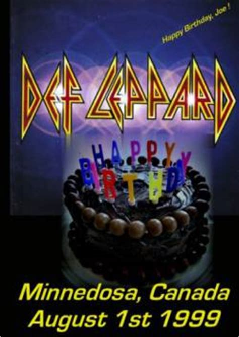 def leppard happy birthday joe minnedosa 1999 (bootleg