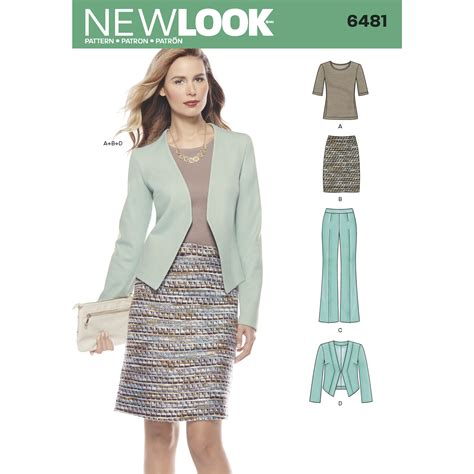 pattern new look new look 6481 sewing pattern