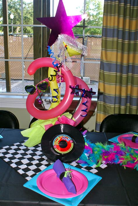 80s table decorations eighties centerpieces hippojoy s
