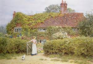 New England Cottage House Plans surrey cottage painting by helen allingham