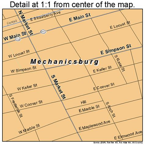 mechanicsburg pennsylvania street map 4248376