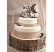 Rustic Cake Topper Wood Monogram