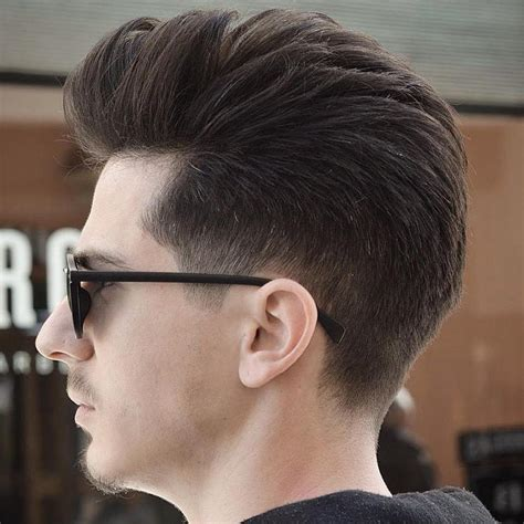 view from back of pompadour hair style 40 statement hairstyles for men with thick hair