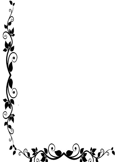 imagenes para hojas blancas bordes de pagina de flores imagenes para imprimir