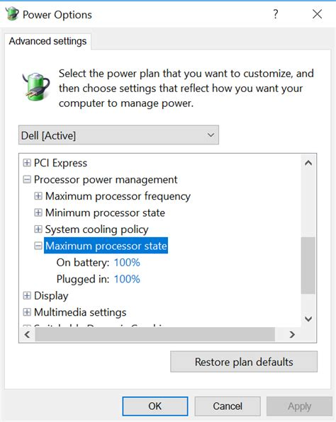 why is my computer fan so loud cpu why can t i change the maximum processor state in my