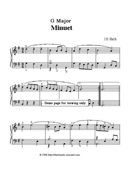 Minuet 1 Violin Suzuki Free Sheet Domain