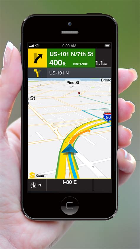 iphone gps scout gps voice navigation app gets iphone 5 support iclarified