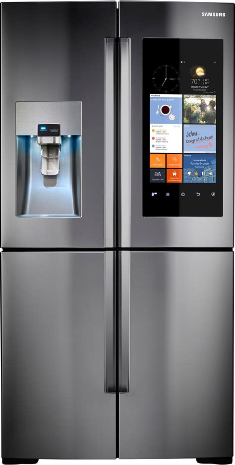 samsung fridge samsung rf28k9580sr 36 inch 4 door refrigerator with family hub wifi lcd touchscreen built in