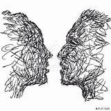 Kissing Couple Sketch   500 x 500 jpeg 66kB