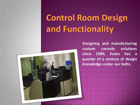apartment design ppt control room design and functionality evans consoles ppt