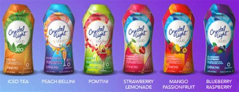 crystal light water flavor packets new 0 calorie crystal light liquid three different
