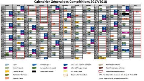 Calendrier Psg 2017 18 Club Les Grandes Dates De La Saison 2017 2018 D 233 Voil 233 Es