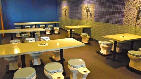 the bathroom restaurant who says you can t eat in the bathroom not l a s toilet