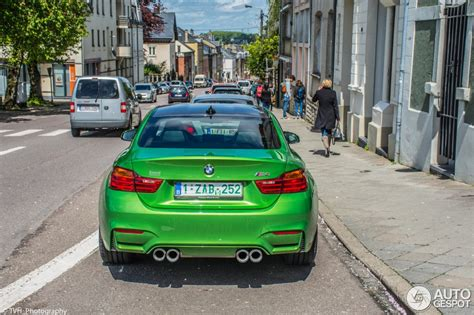 green bmw m4 this java green individual bmw m4 seems out of this world