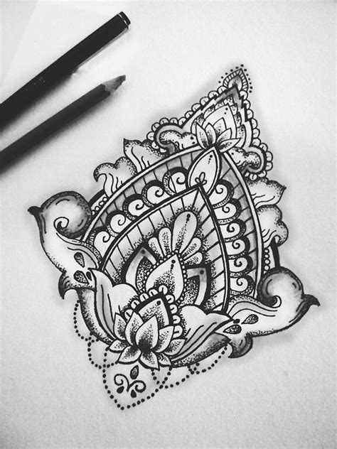 marker tattoo designs drawing black and white painting flower