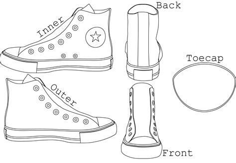 converse shoe template chuck s high tops template by alexchastain on
