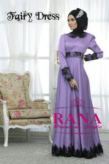 dress by rana lavender baju muslim gamis modern